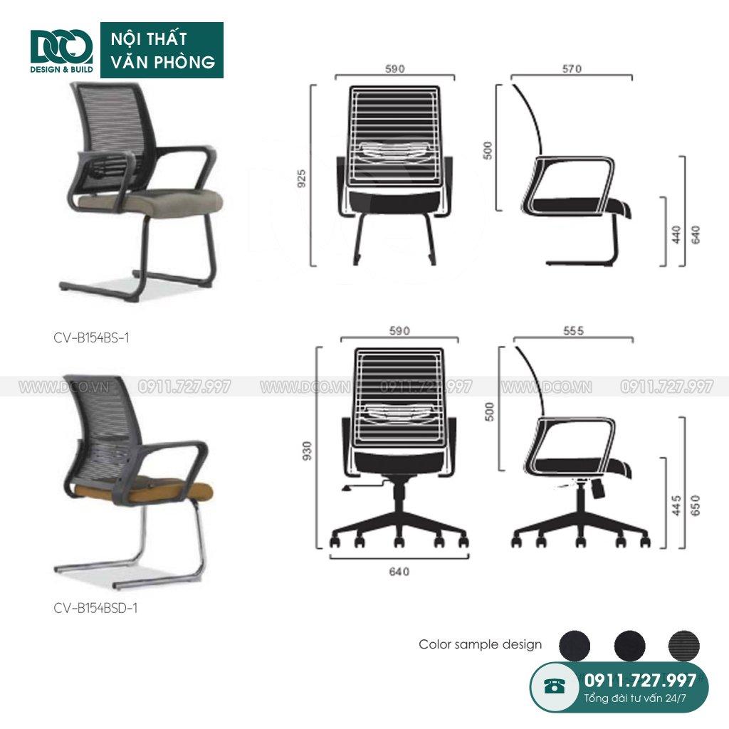 Ghế văn phòng B154 giá rẻ