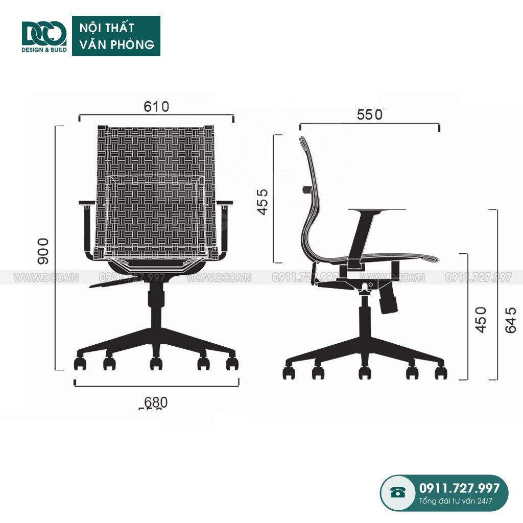 Bảng báo giá ghế văn phòng B203