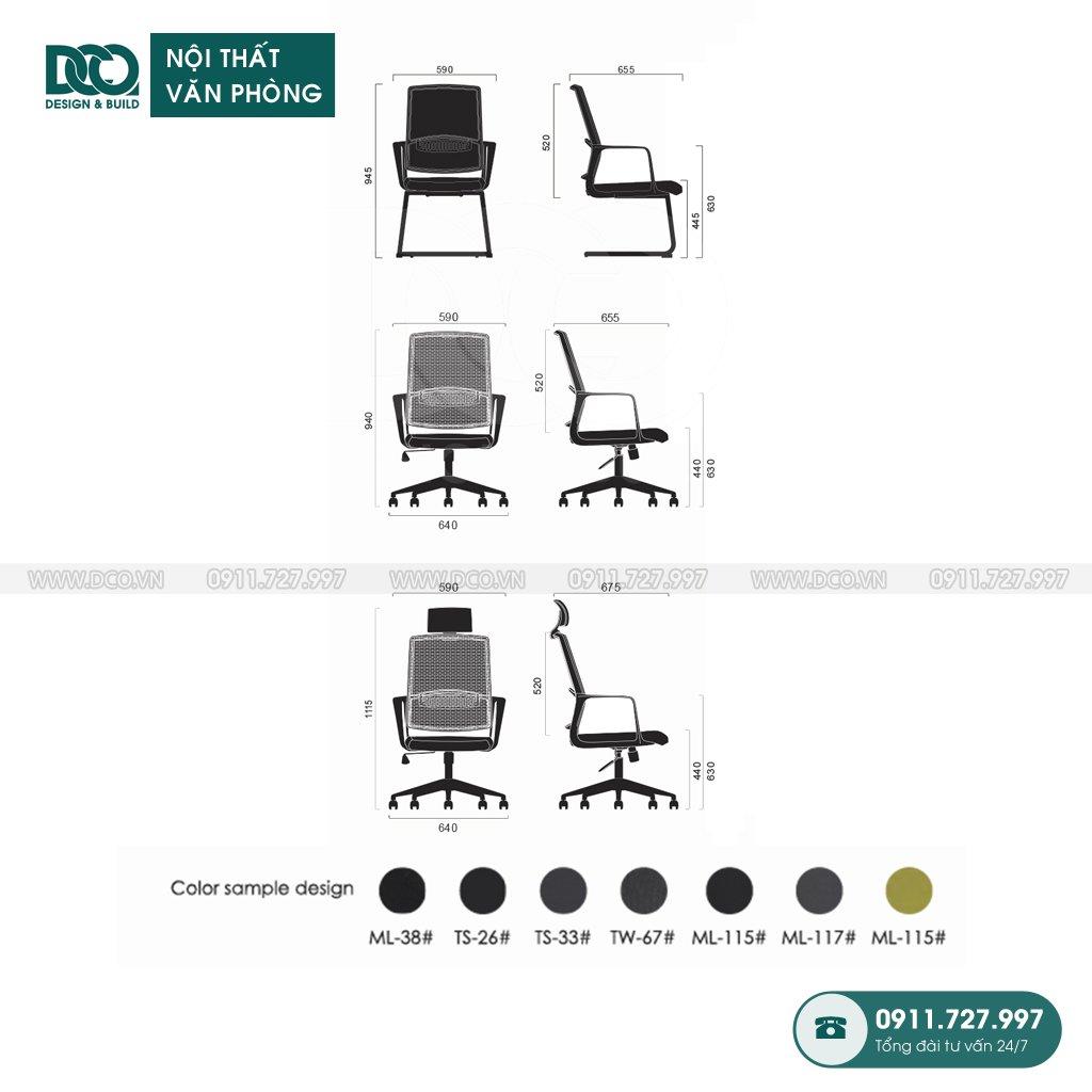 Ghế văn phòng B206 cao cấp