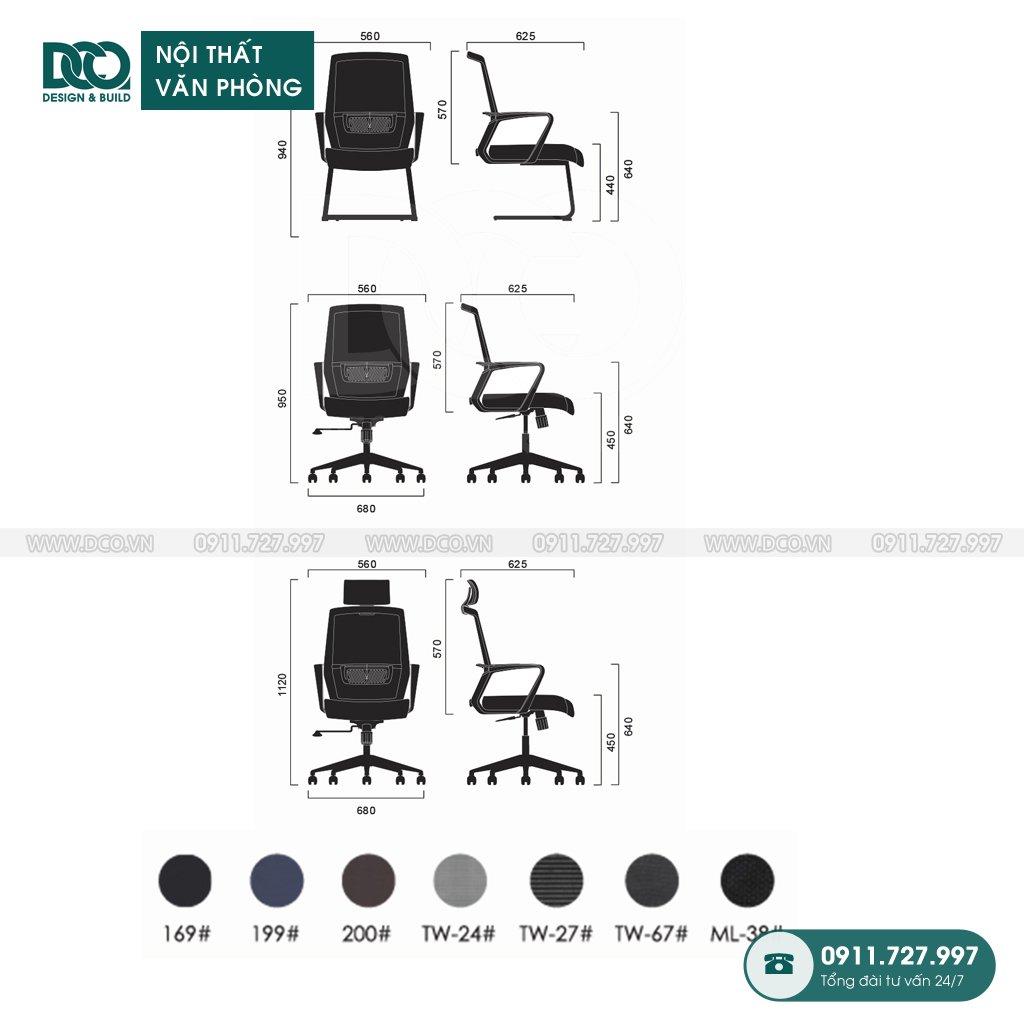 Ghế văn phòng B212 giá rẻ