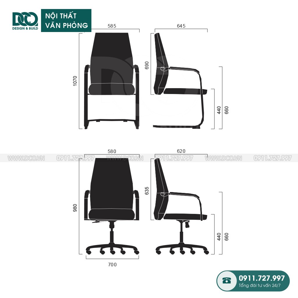 Ghế văn phòng B233 giá rẻ