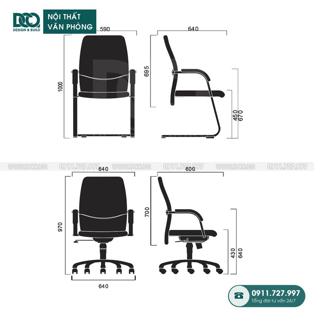 Ghế văn phòng F08 giá rẻ