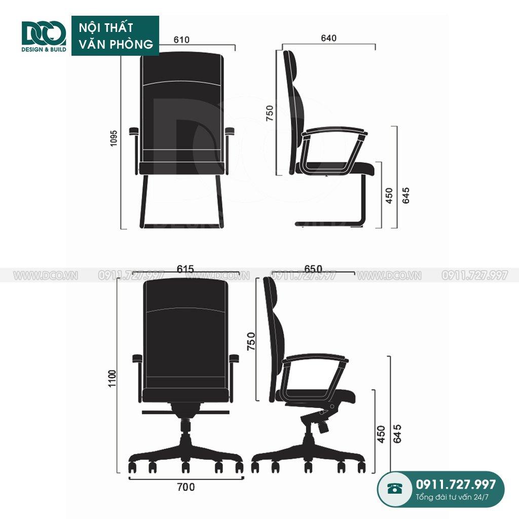 Bảng báo giá ghế văn phòng F38