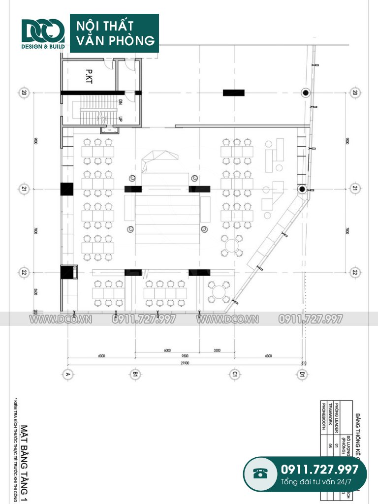 Bản vẽ cải tạo nội thất Coworking Space mẫu 1 (2)