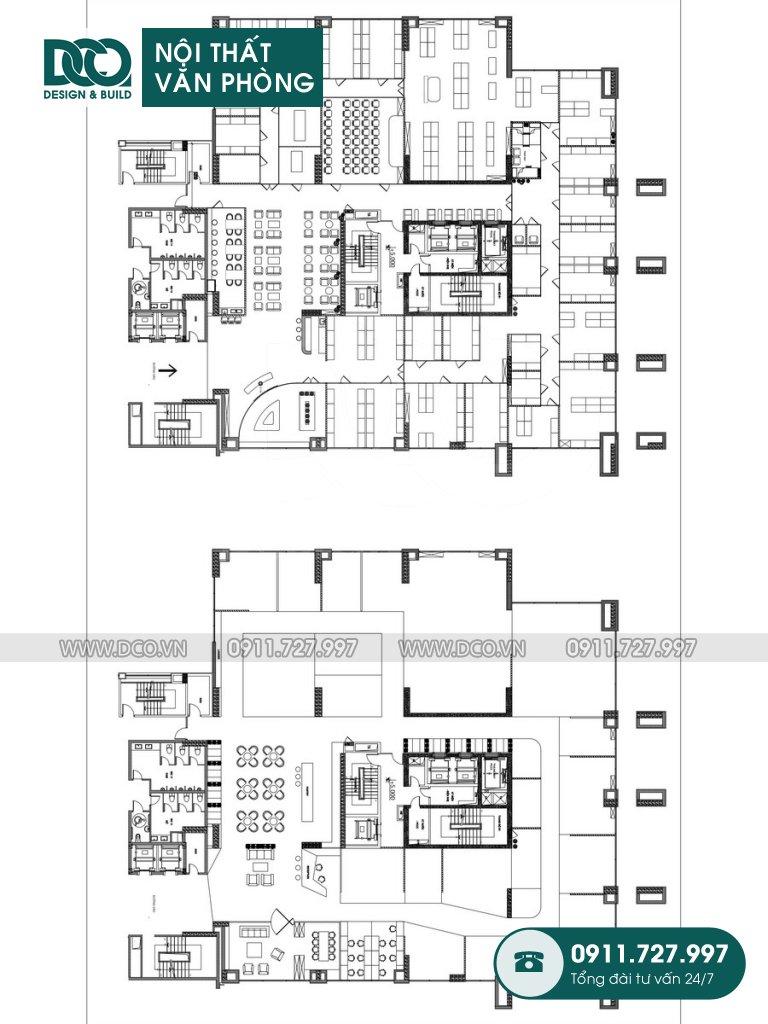Bản vẽ cải tạo nội thất Coworking Space mẫu 2 (3)