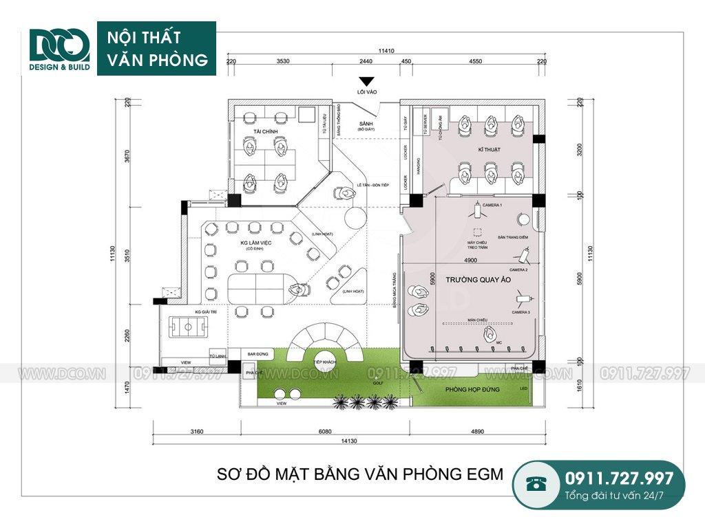Bản vẽ thiết kế nội thất Coworking Space mẫu 2 (3)