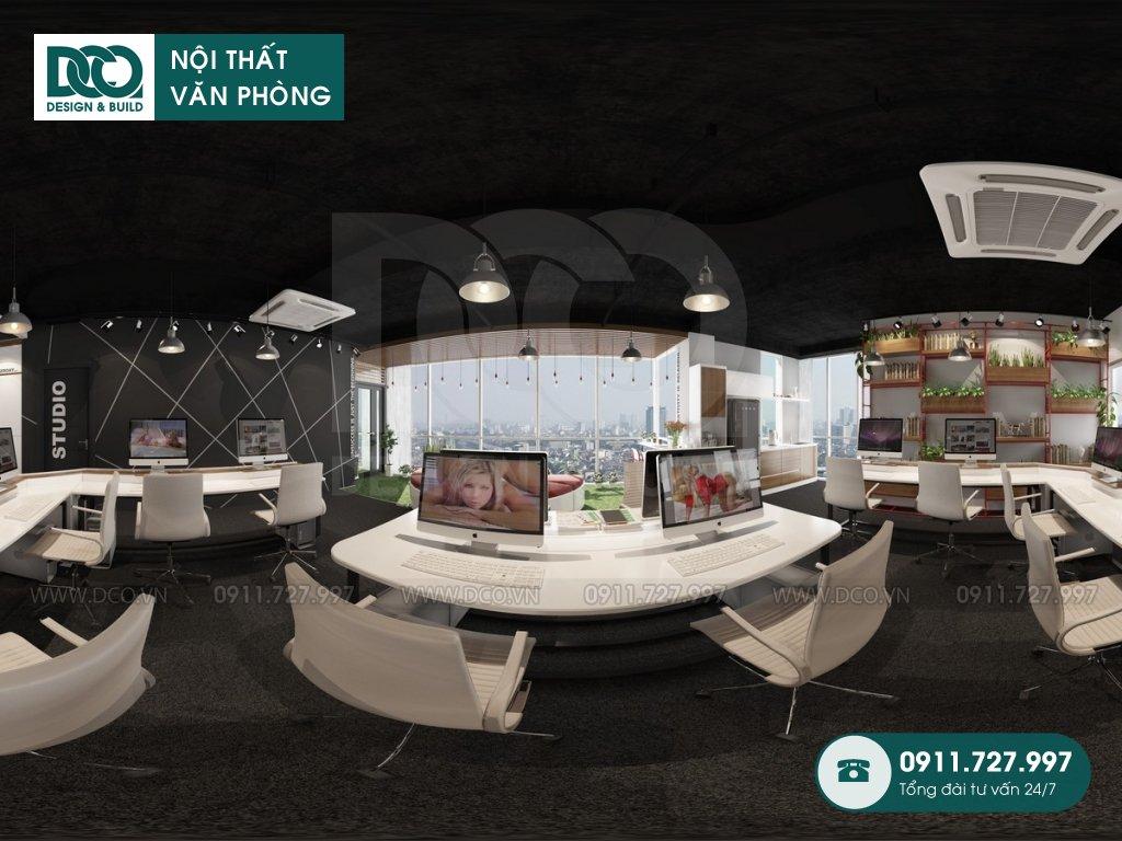 Bản vẽ thiết kế nội thất Coworking Space mẫu 2 (4)