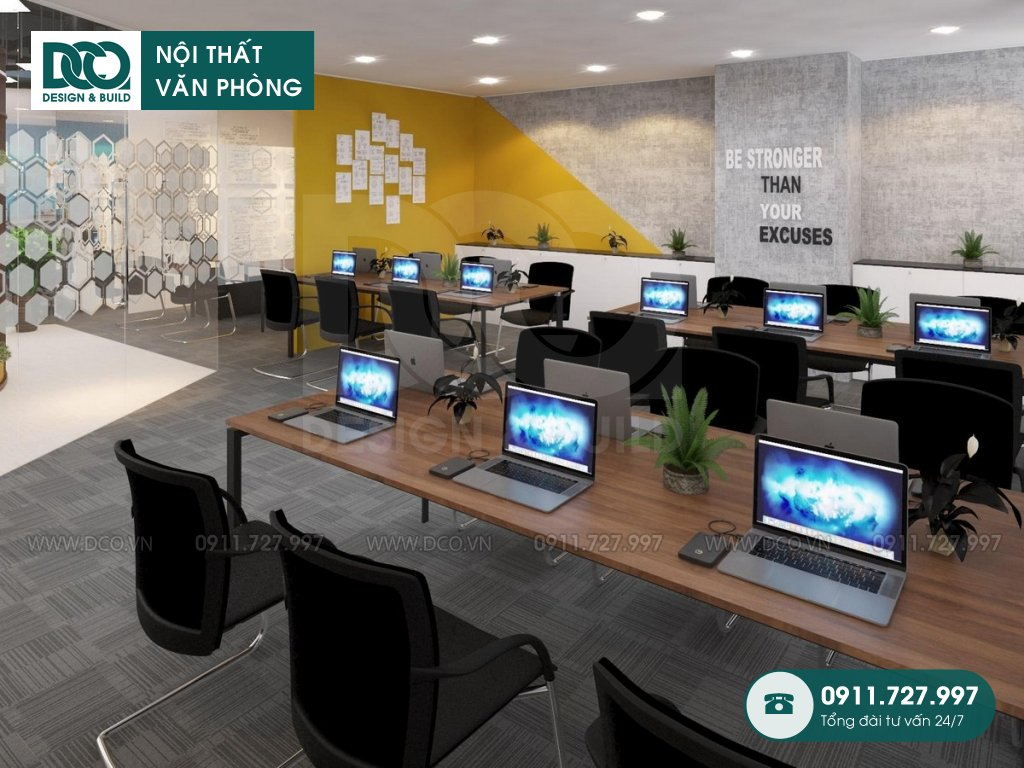 Mẫu thiết kế cải tạo nội thất văn phòng sau cải tạo (2)