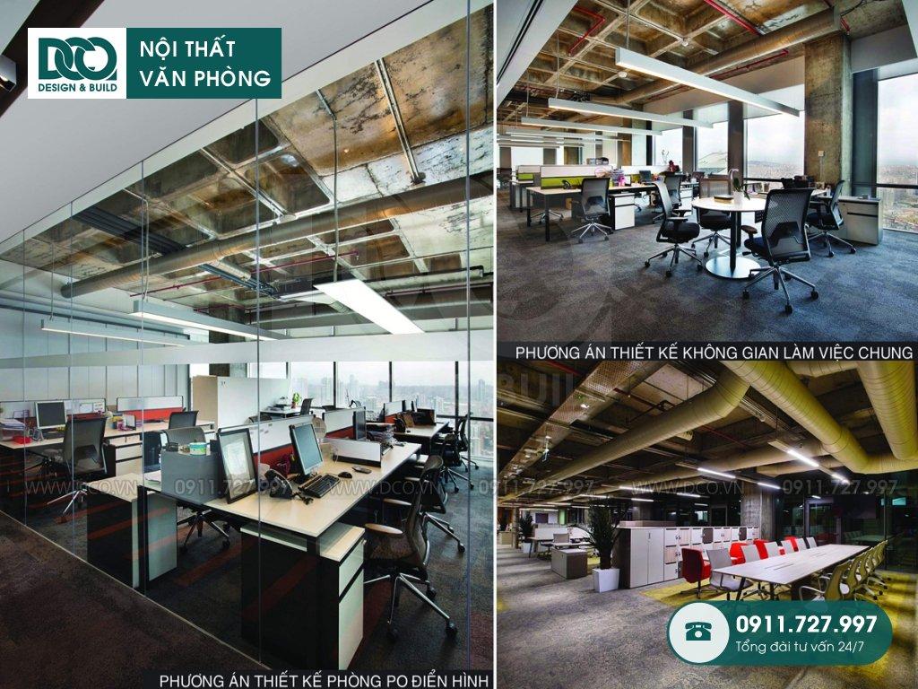Thiết kế nội thất Coworking Space mẫu 3