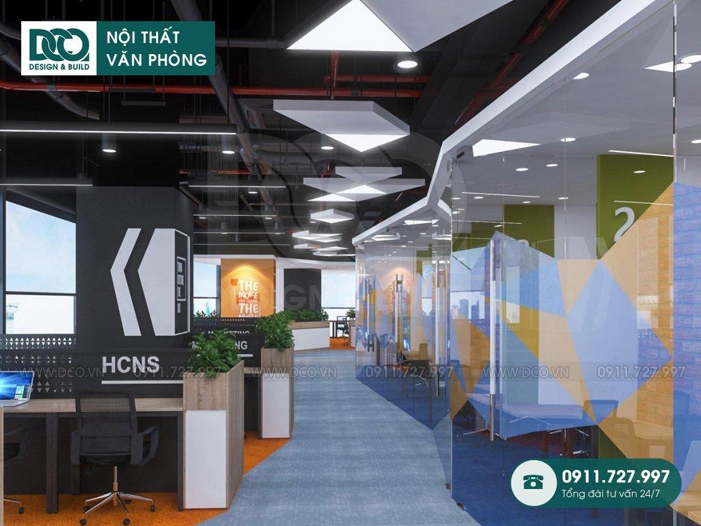 Thiết kế nội thất Coworking Space khu 2 GNG Media (4)