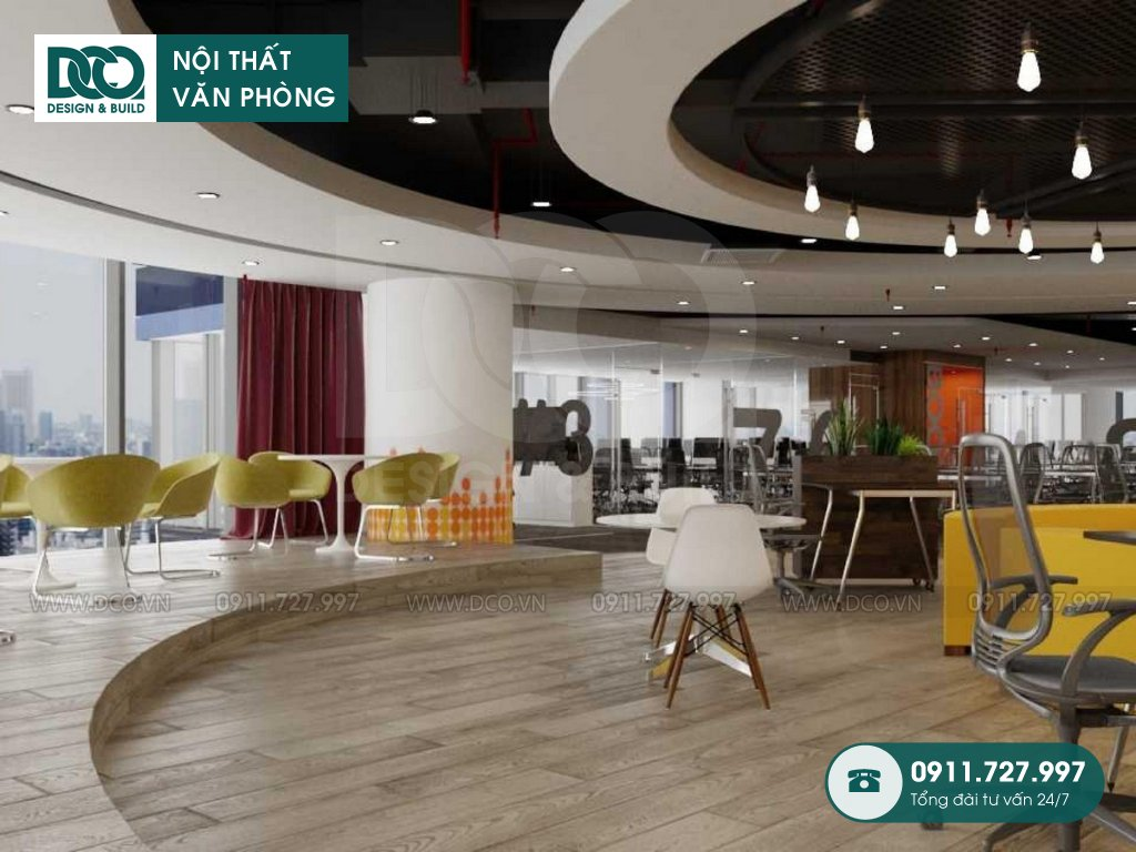 Thiết kế nội thất Coworking Space tầng 21 VP Bank