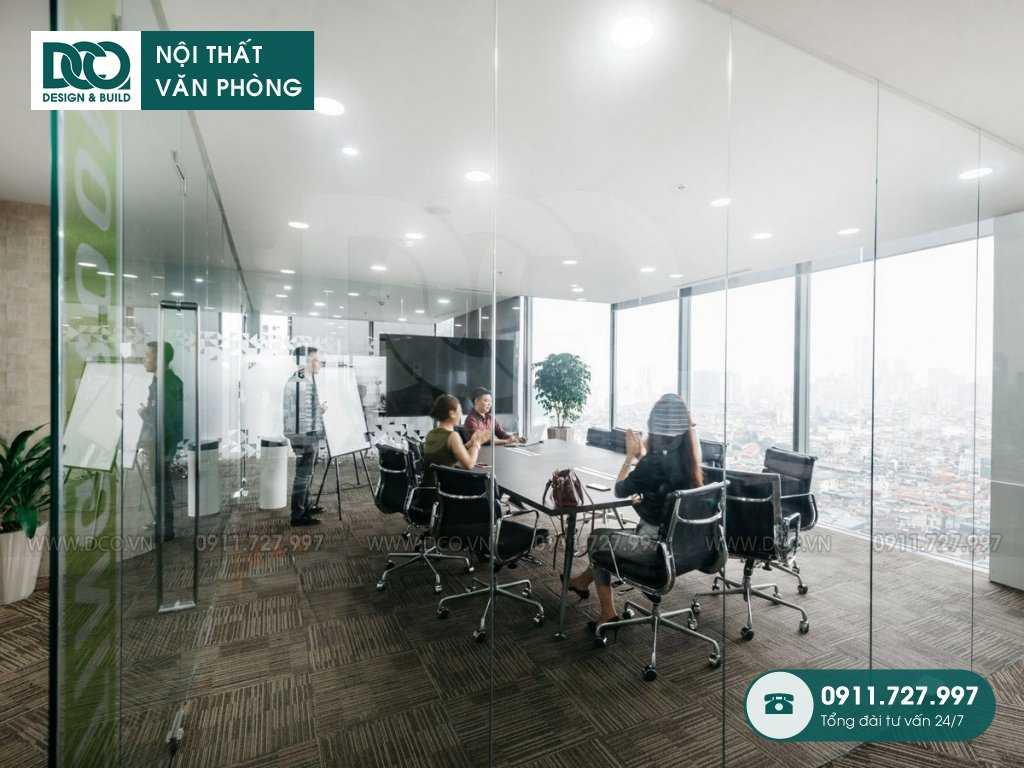 Thiết kế nội thất Coworking Space tầng 22 VP Bank