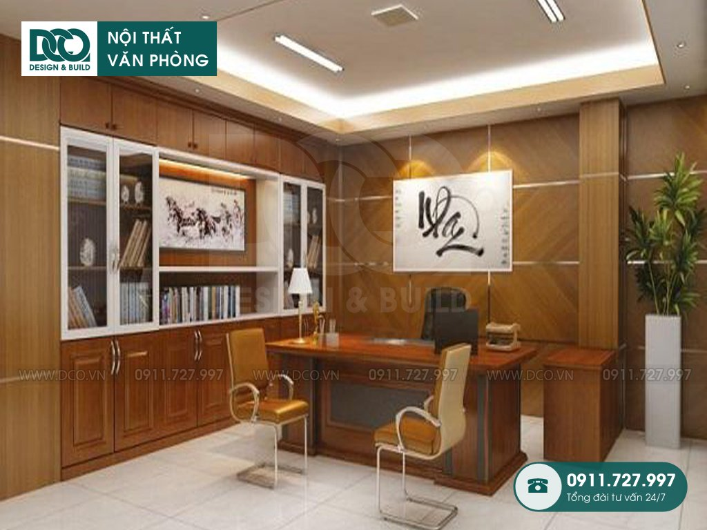 Bản vẽ cải tạo nội thất phòng phó chủ tịch tại TP. HCM