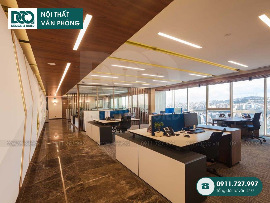 Đơn giá thiết kế nội thất không gian làm việc chung