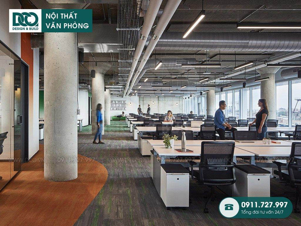 Đơn giá thiết kế nội thất khu làm việc chung