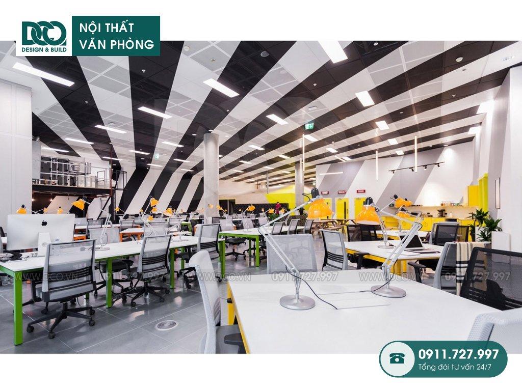 Chi phí thi công nội thất khu làm việc chung tại Hà Nội