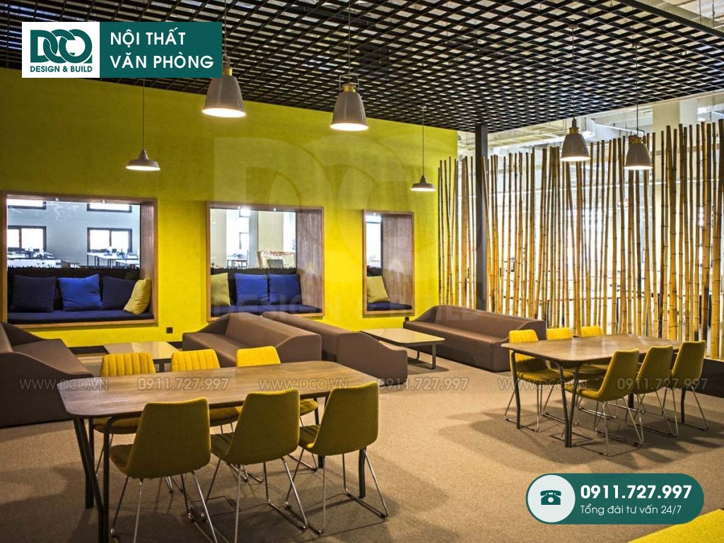 Báo giá chi phí thiết kế nội thất không gian làm việc chung