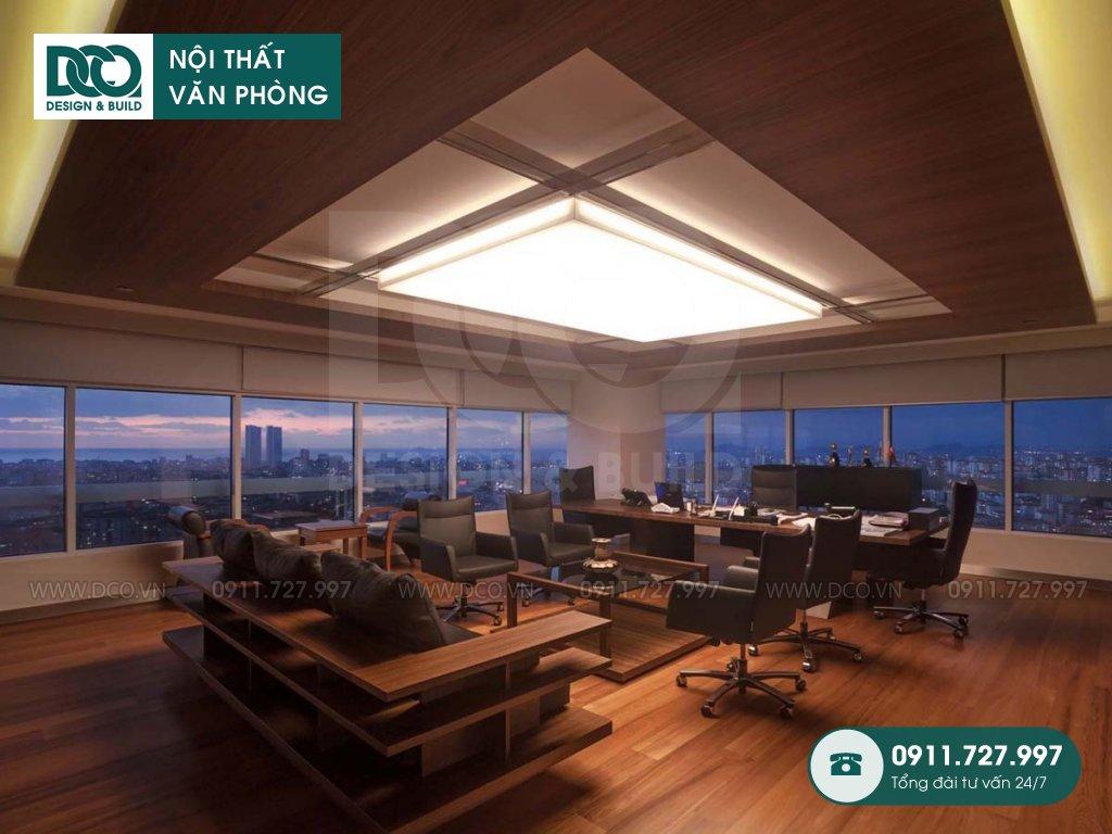 Chi phí thiết kế nội thất phòng phó chủ tịch tại Hà Nội