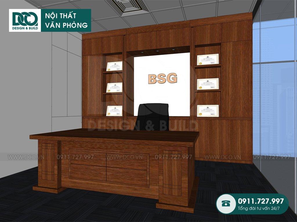 Dự toán thi công nội thất phòng phó chủ tịch tại Hà Nội