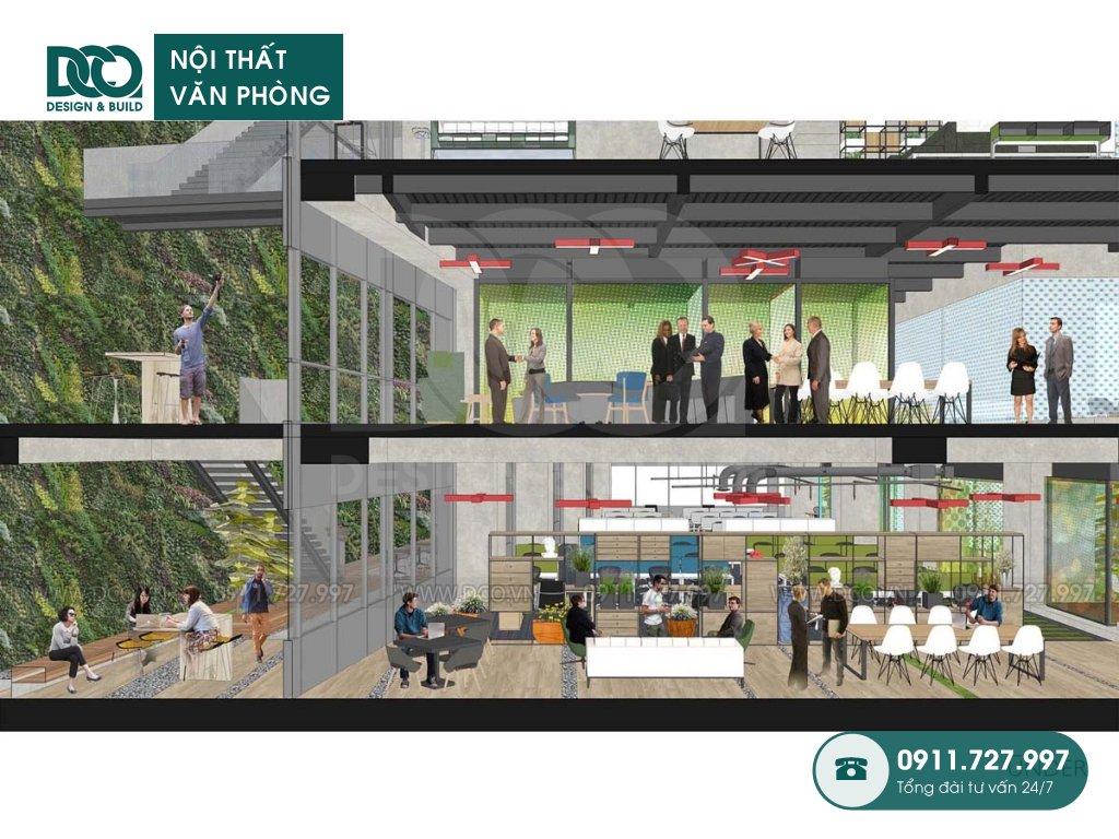 Dự toán thiết kế nội thất khu làm việc chung TP. HCM