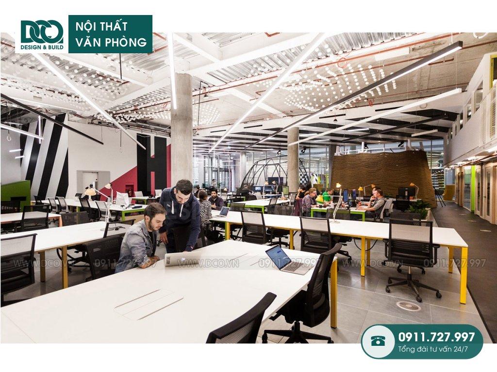 Dự toán thiết kế nội thất khu làm việc chung trọn gói