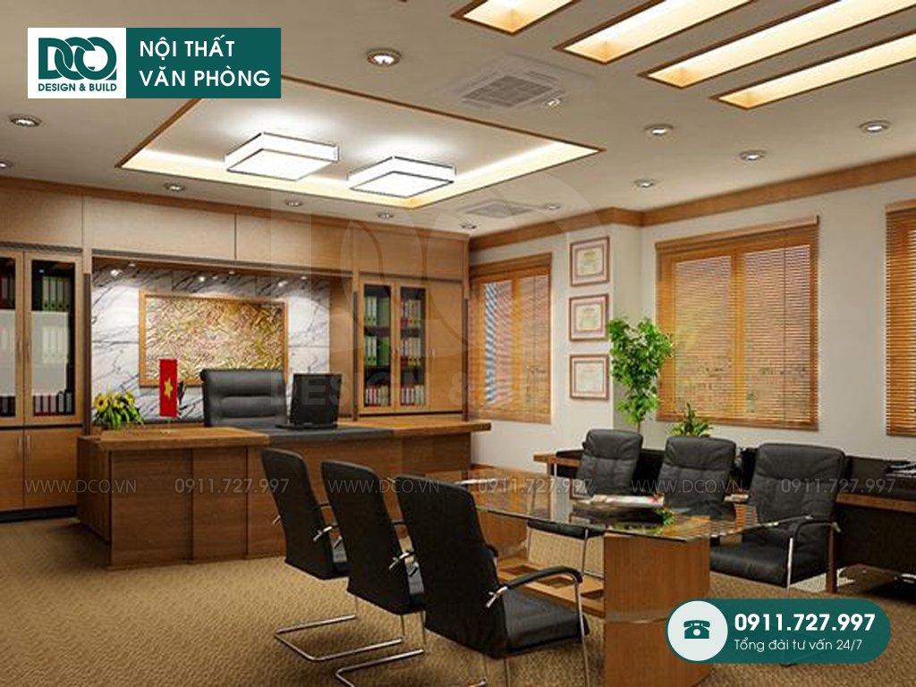 Dự toán thiết kế nội thất phòng phó chủ tịch trọn gói
