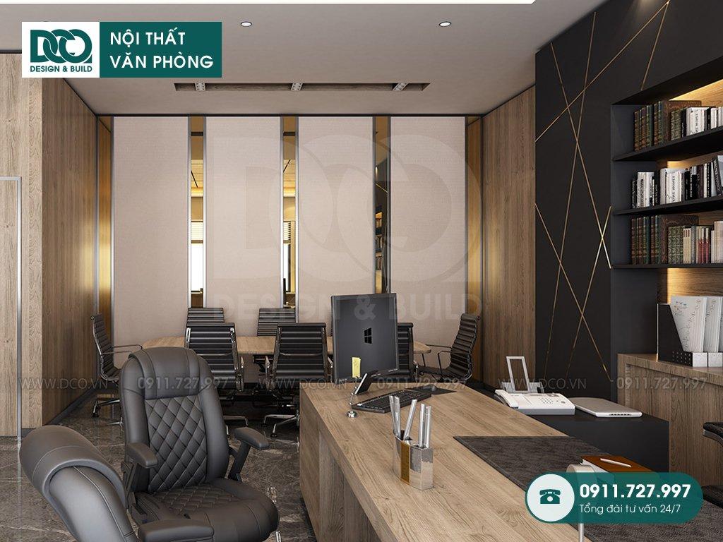 Dịch vụ dự toán thiết kế nội thất phòng phó chủ tịch
