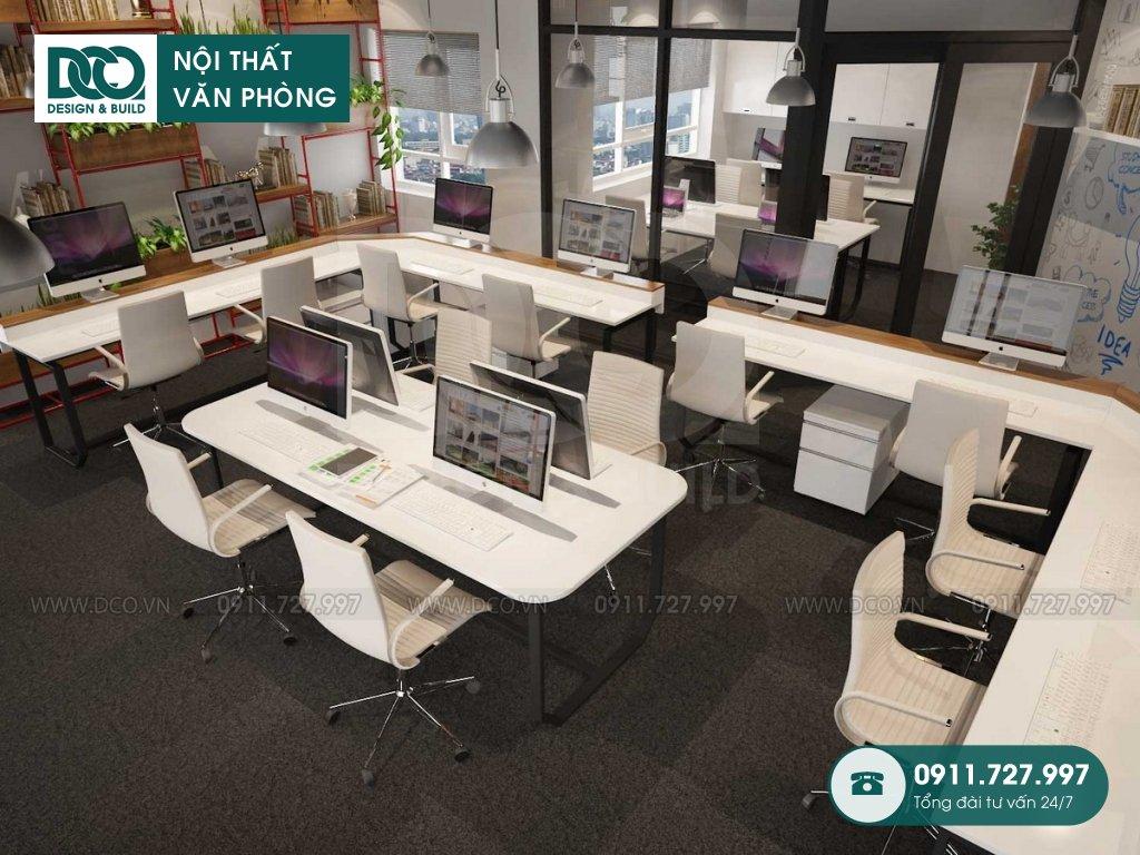 Giá thành thi công nội thất phòng nhân viên tại Hà Nội