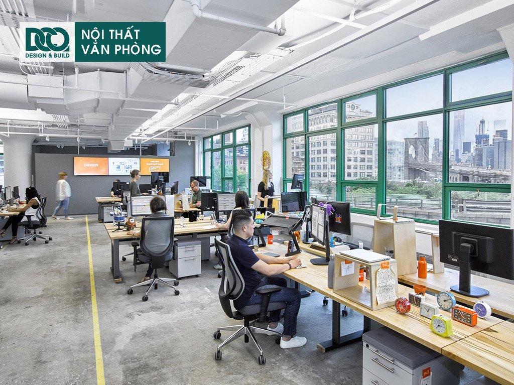 Giá thành thiết kế nội thất không gian làm việc chung tại Hà Nội