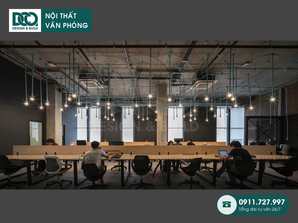 Giá thành thiết kế nội thất không gian làm việc chung