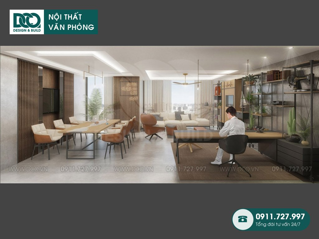 Giá thành thiết kế nội thất phòng lãnh đạo tại TP. HCM