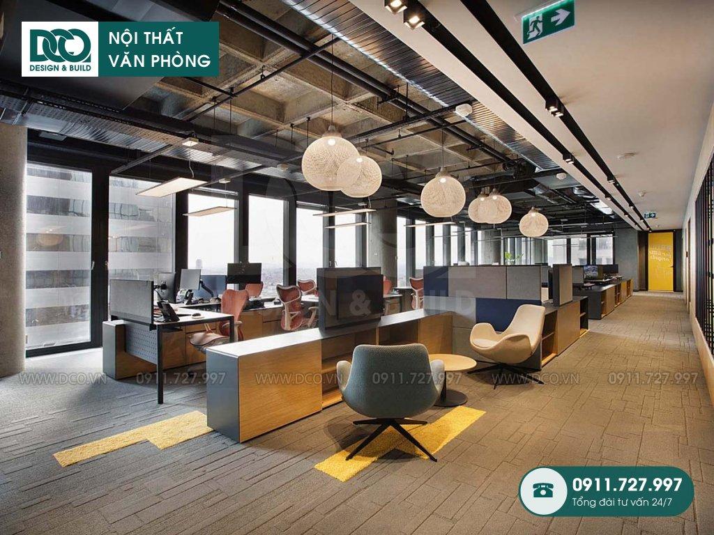Khái toán cải tạo nội thất không gian làm việc chung Hà Nội