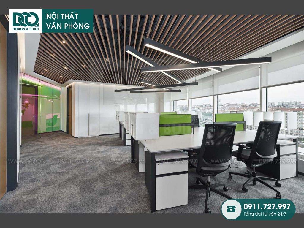 Khái toán thi công nội thất không gian làm việc chung tại TP. HCM