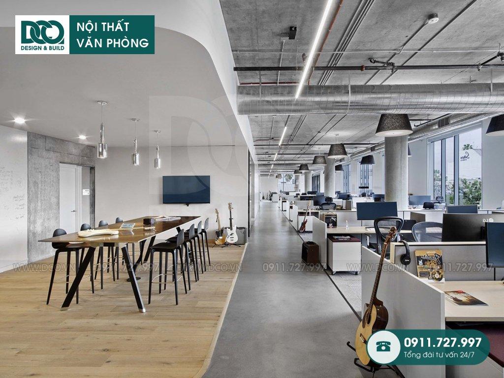Khái toán thiết kế nội thất không gian làm việc chung