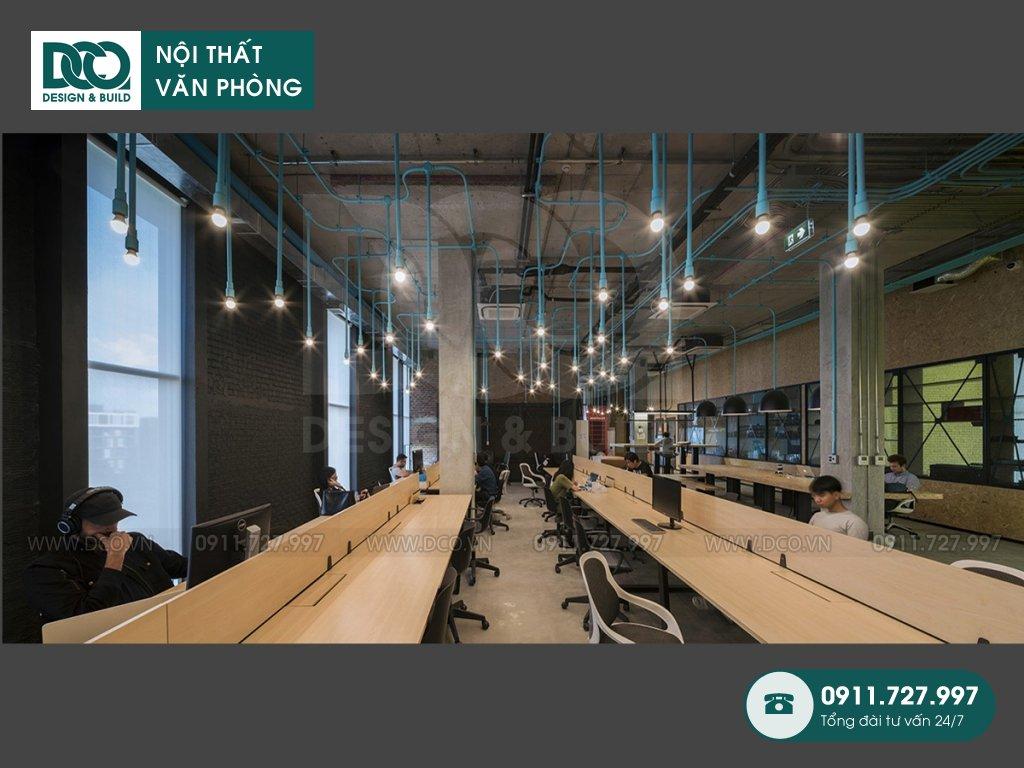 Khái toán thiết kế nội thất không gian làm việc chung tại TP. HCM