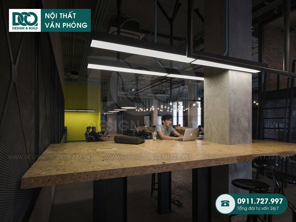 Khái toán thiết kế nội thất không gian làm việc chung tại Hà Nội