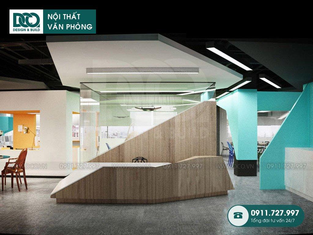 Khái toán thiết kế nội thất lễ tân tại TP. HCM