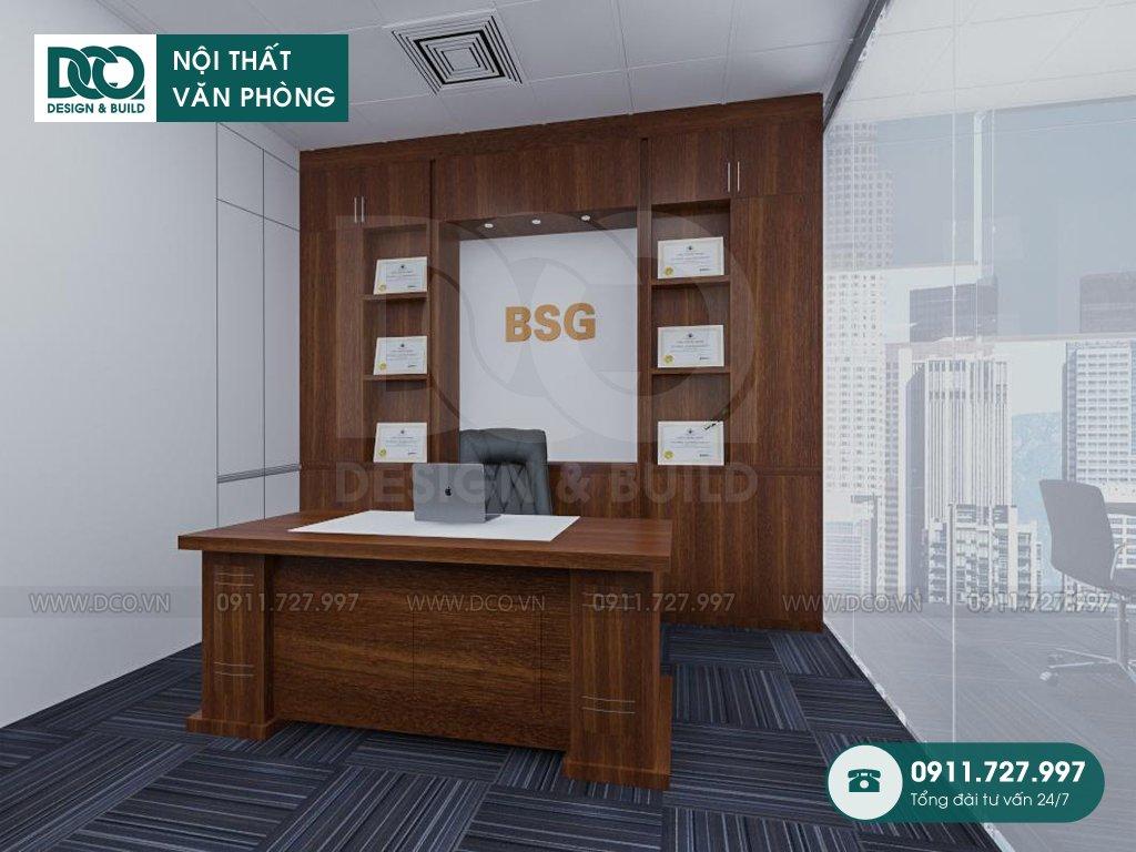 Dịch vụ khái toán thiết kế nội thất phòng chủ tịch