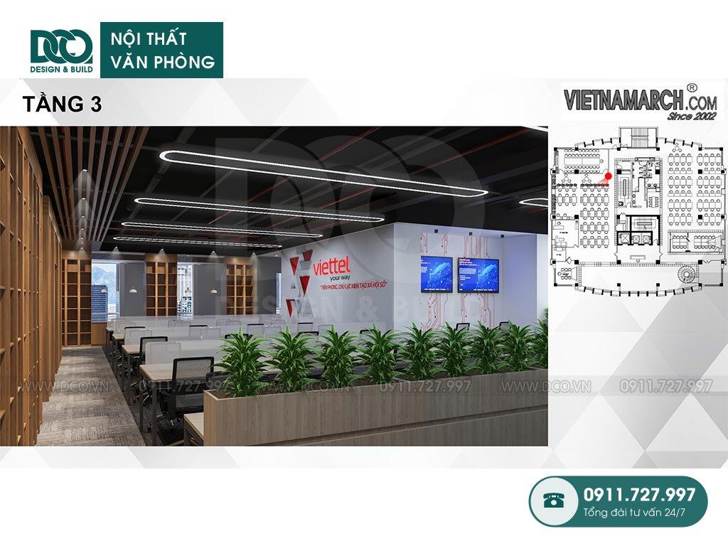 Không gian văn phòng làm việc tầng 3 - View 2