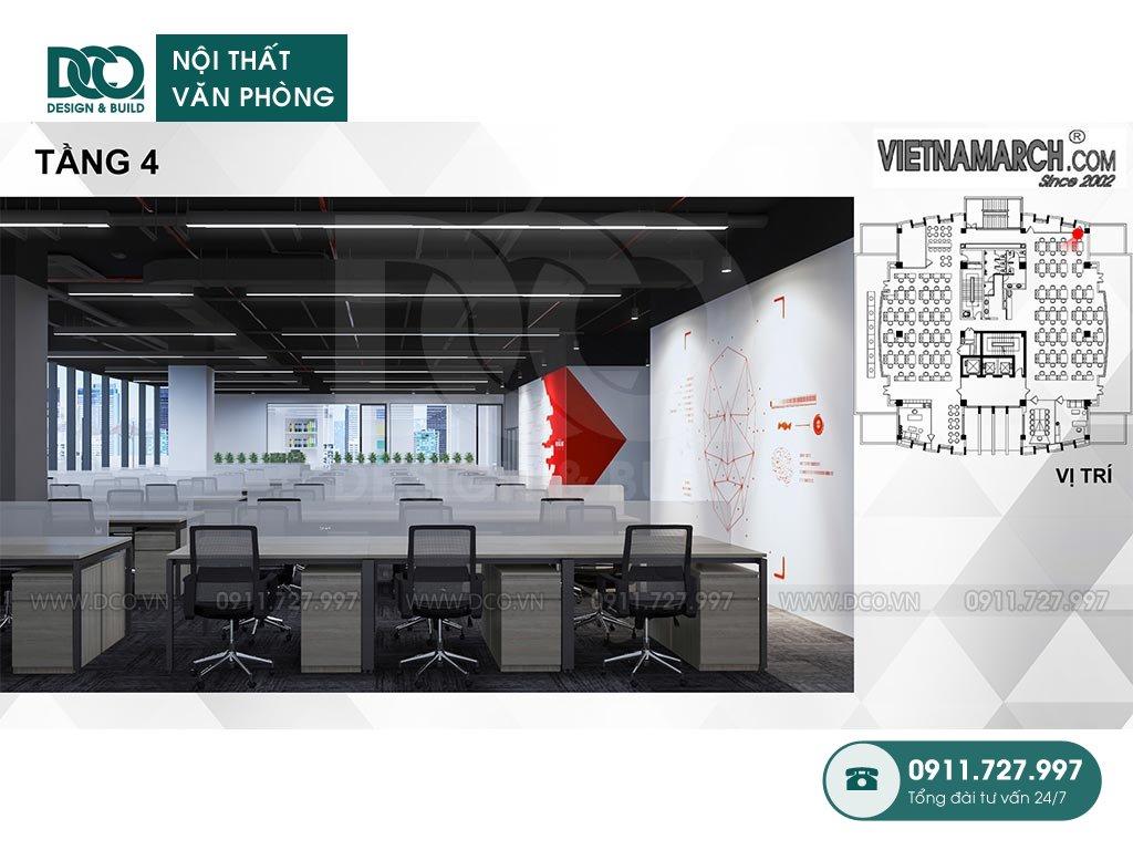 Không gian văn phòng làm việc tầng 4 - View 4