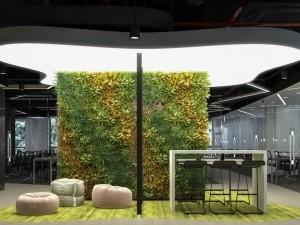 Bùng nổ phong cách thiết kế văn phòng xanh