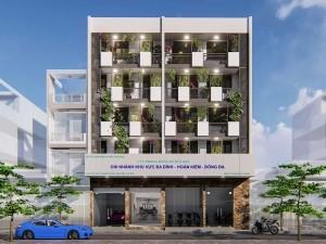 Dự án thiết kế văn phòng 255m2 5 tầng tại phường Quán Thánh