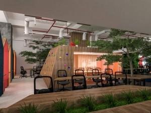 Dự án thiết kế văn phòng 120 chỗ ngồi tại phường Nhân Chính