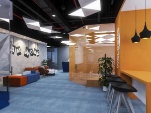Dự án thiết kế văn phòng 400m2 cho công ty truyền thông GNG
