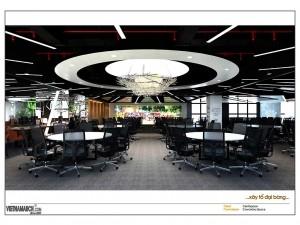Dự án thiết kế văn phòng coworking space 655 chỗ ngồi tại TP.HCM