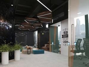 Dự án thiết kế văn phòng coworking space 155 chỗ ngồi hiện đại