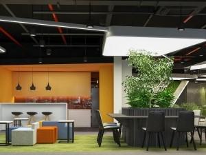 Mẫu nội thất văn phòng 450 chỗ Golden West