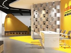 Mẫu nội thất Coworking Space Arena Multimedia