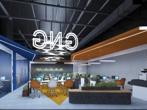 Mẫu nội thất văn phòng 68 chỗ khu 1 GNG Media