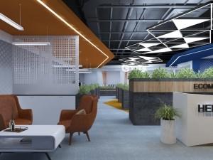 Mẫu nội thất văn phòng 250m2 khu 1 GNG Media